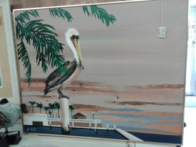 Pelican on Canvas #2416-149