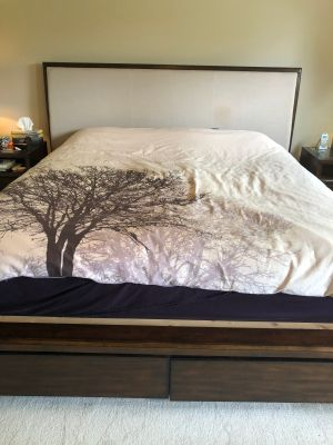 King Bed set - bed, side tables, and tall boy dresser