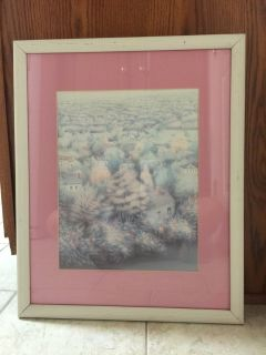 Pink Framed Scenic Picture