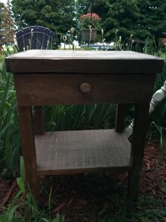 Primitive looking table