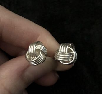 Knotted Metal Post Earrings