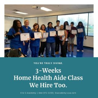 Become a Certified Home Health Aide In 3-Weeks – E & S Academy