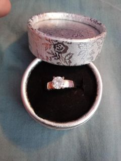 Sterling silver ring, I love you writen on band