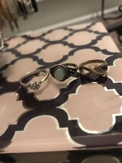3 rings, costume jewelry, need cleaning