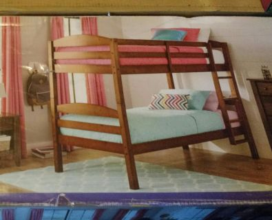 New in Box - Better Homes and Gardens Solid Wood Twin Bunk Bed (Bed Only) in Light Cherry ~ $125.