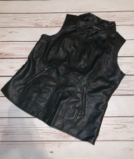 NWT Baccini Faux Leather Vest - Black, Size M