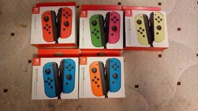 Brand new joy cons for switch five different color sets I have one of each color set that's it