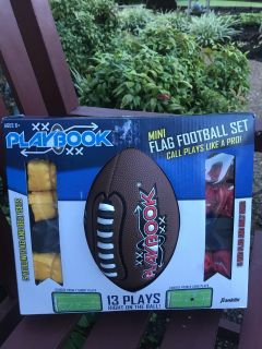 NEW in box FRANKLIN flag football setGREAT GIFT!!!