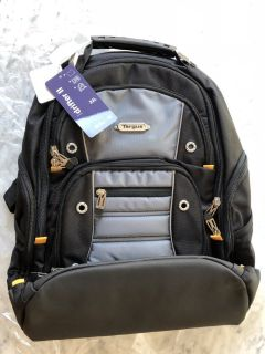 Targus Drifter II Backpack for 16-Inch Laptop Bag, Black/Gray - BRAND NEW!