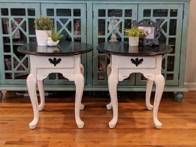 Set of Refinished End Tables