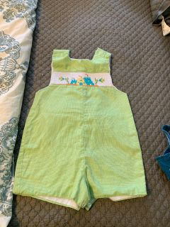 Smocked Sandcastle outfit