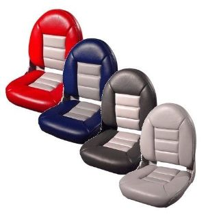 Purchase Tempress High Back NaviStyle Boat Seat Red / Gray Single Boat Seat TEM-54911 motorcycle in Liberty, Missouri, United States, for US $114.99