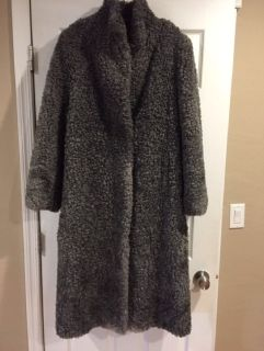 Rare Viking Lamb overcoat trench coat sheep wool glamorous very warm