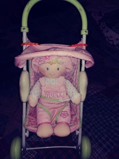 Lightly Used Condition - Fisher Price Stroller with Soft Baby Doll