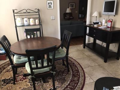 Table with 4 Chairs and matching Side Board