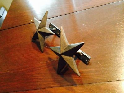Cast Iron Star Curtain Tie Backs (2)