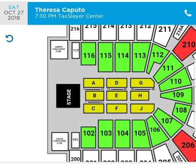 2 tickets great seats Row F for Theresa Caputo Oct 27th at 70pm at TaxSlayer