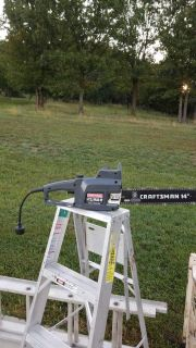 """Electric Craftsman 14"""" Chainsaw35."""