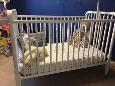 Crib and matching changing table