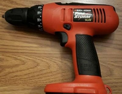 """Black and Decker Fire Storm 3/8"""" 14.4V Cordless Drill & Battery Charger 2 pc set, battery NOT included"""