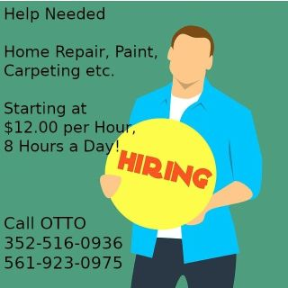 Help Needed - Home Repair, Paint, Carpeting etc. 561-923-0975