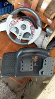 mad catz 2 PlayStation/ps2 steering wheel and pedals set