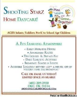 Shooting starz home daycare