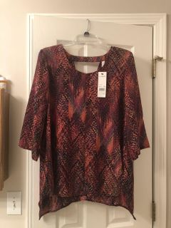 Beautiful New with tags New York collection women s shirt Large