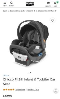 Chicco Fit2 infant and toddler car seat