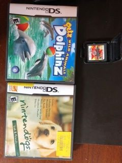 nintendo ds-3 games-bakugan-dogs-dolphinz-rated e