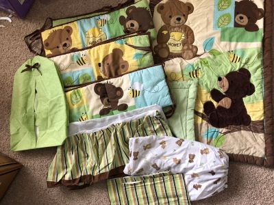 Crib bedding and decor