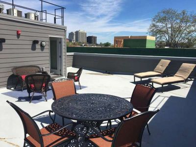Near Center-City New, Top Floor Condo w/ Large Roof Patio