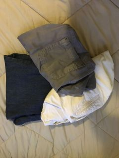 2 pair of maternity shorts and 1 pair of jeans.