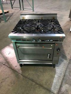 "Montague 6 Burner 60"" Gas Range, w/Oven RTR#8121307-03"
