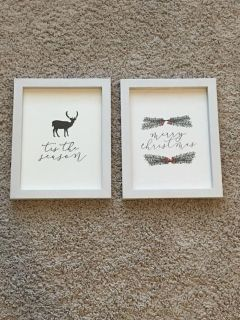 2 White Picture Frames