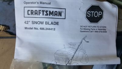 "Craftsman 42"" snow blade"