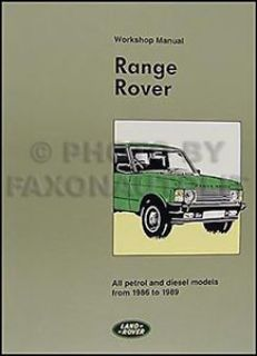 Find Range Rover Repair Shop Manual 1986 1987 1988 1989 Service Workshop Book motorcycle in Riverside, California, United States, for US $119.00