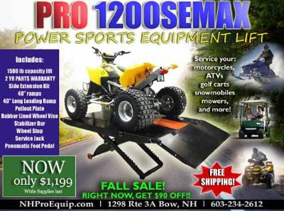 PRO 1200SEMAX MOTORCYCLE ATV LIFT PACKAGE