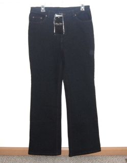 NEW w Tags Terry Lewis Dark Blue Boot Cut Jeans Size 10 x 31 Stretch Elastic Waist Back