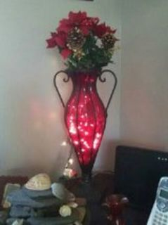 antique vase with lights
