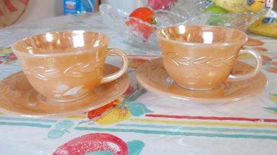 Fire king cup and saucers