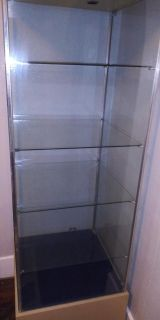 Raw Cliffed Orginal glass case. Built in lock and key. Built in working lights!!!