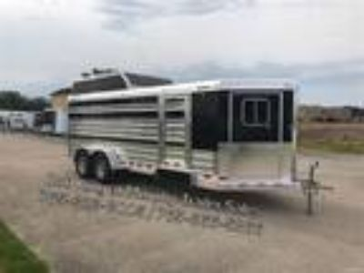"2020 4 Star Runabout 6'10x18'6""x6' Tall 8-Pen Show Pig Trailer Stock"