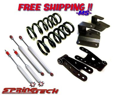 Find 1973-1987 Chevrolet GMC C10 3/4 Lowering Drop Kit Coils Shackles Hangers motorcycle in Huntington Beach, California, US, for US $479.95