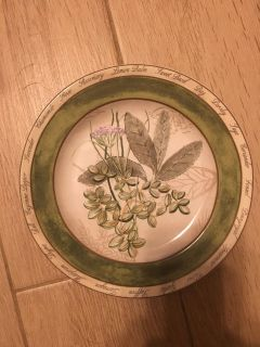 Herb Names Around the edge of this Smaller Plate