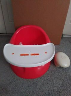 Prince Edward Red Colored Bebe Pod Toddler Seat with Tray and Safety Strap
