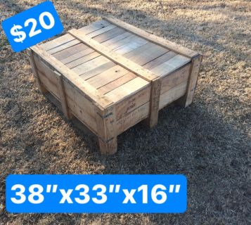 Nice Wooden Crates w/lids~Rustic Shabby Chick Style Coffee Table~Raised Garden, etc.~NO HOLDS/FCFS