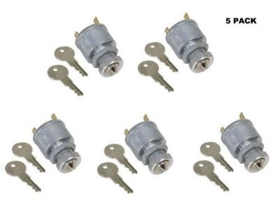Find 5 PACK EZGO 2 PRONG KEY IGNITION SWITCH 10 KEYS 81 & UP GAS & ELEC GOLF CART motorcycle in Oxford, Massachusetts, United States, for US $54.99