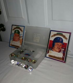 1988 and 1989 Giant Don Russ Diamond kings sealed sets. 58 1990 BB coins, 8 1984 BB pins, 6 1990 MLB Marbles. VERY RARE. $25.00