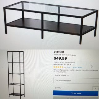 Ikea TV stand and 2 shelving units